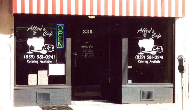 Allen's Cafe Window Vinyl