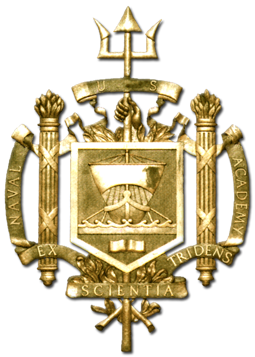 Y34352 - 3-D Carved High-Density Urethane Gold-Leaf Gilded US Naval Academy Seal