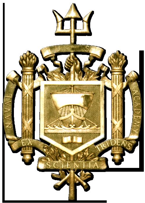 Y34352 - 3-D Carved High-Density Urethane Gold-Leaf Gilded US Naval Academy Seal