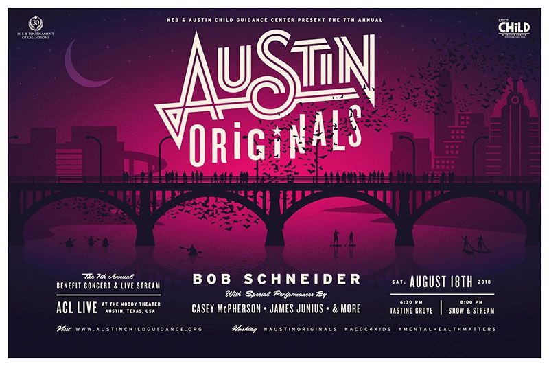Support Mental Health for Kids at the Austin Originals Benefit Concert with Bob Schneider!