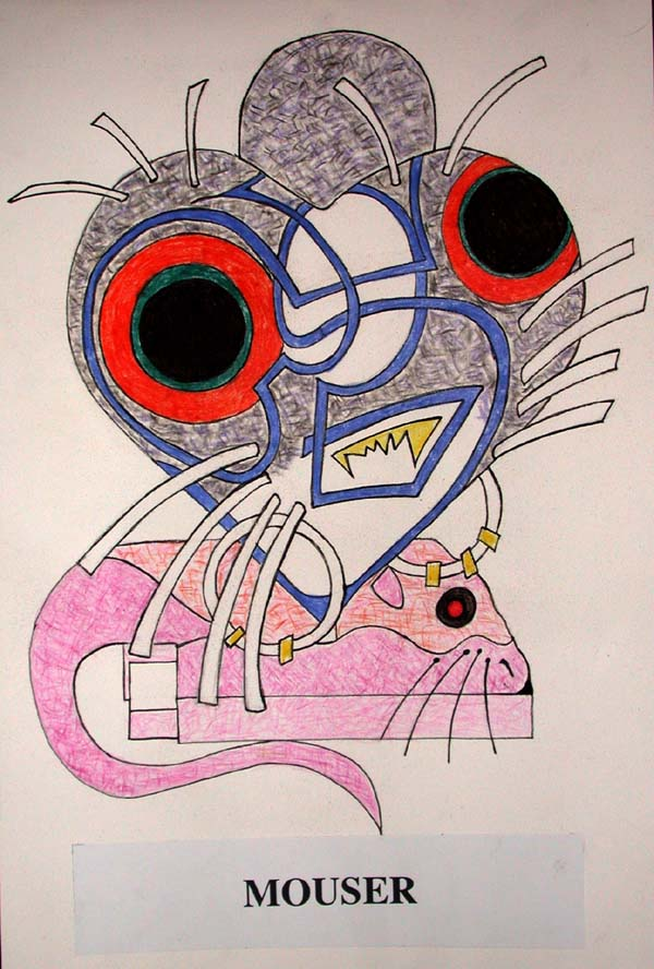 Mouser on paper