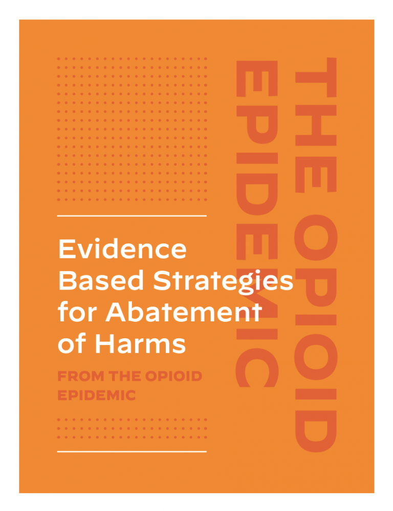 Evidence Based Strategies for Abatement of Harms from the Opioid Epidemic