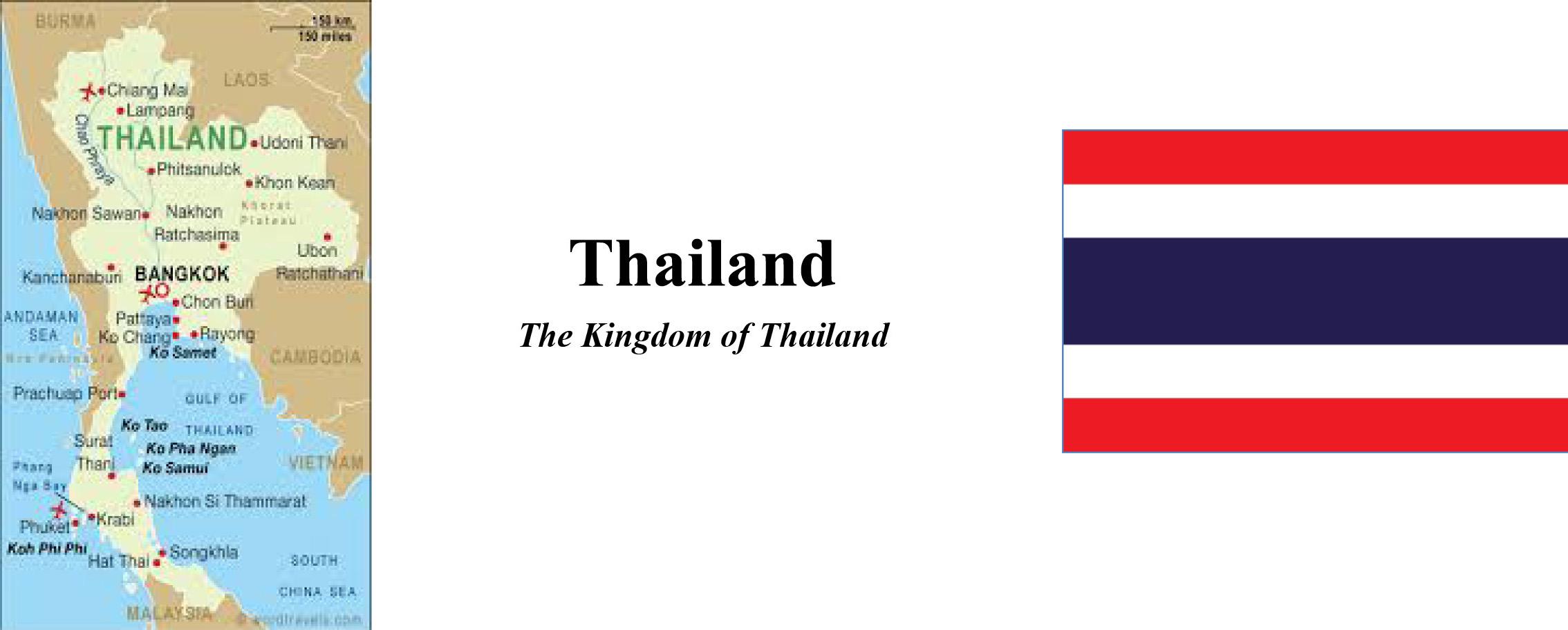 Thailand Map & Flag