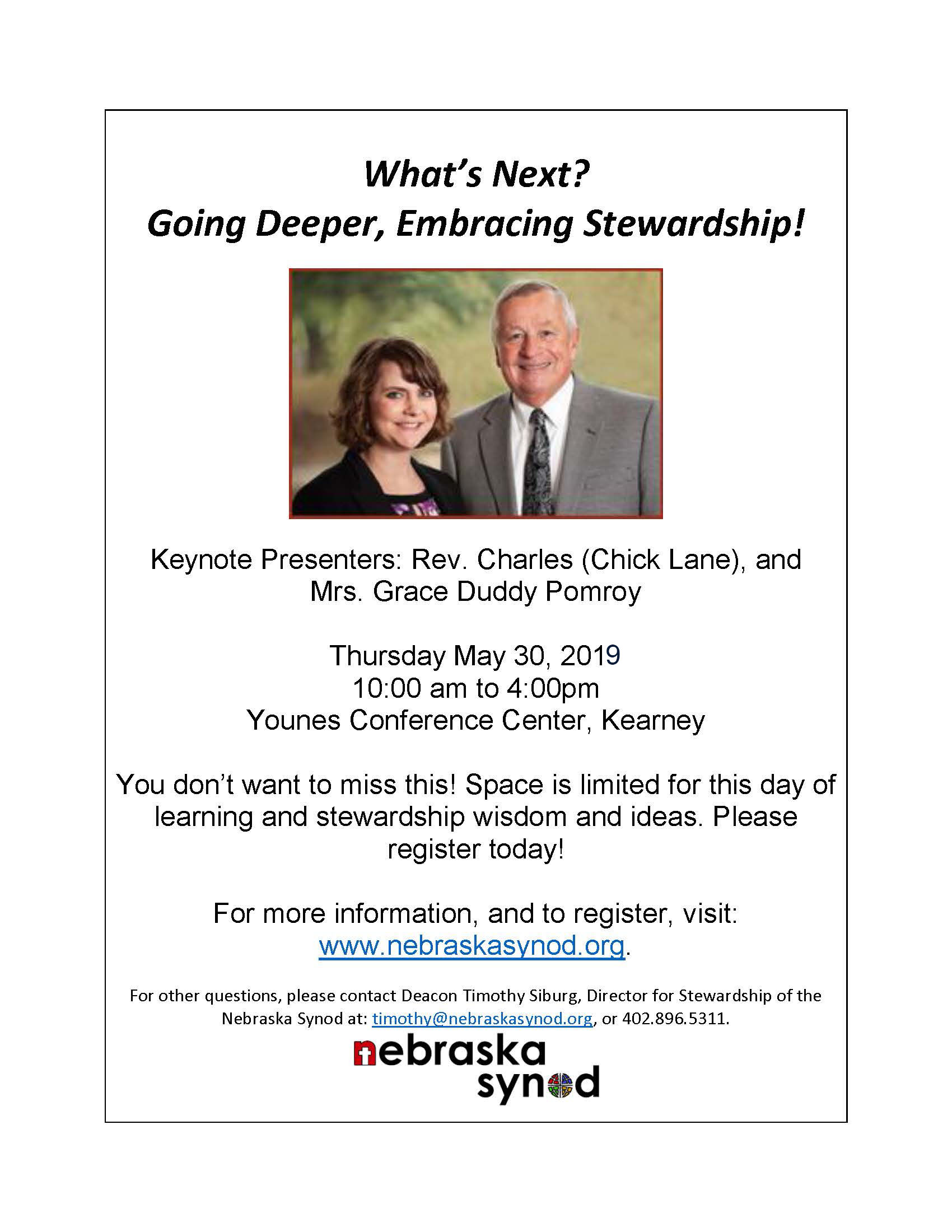 What's Next? Going Deeper- Embracing Stewardship