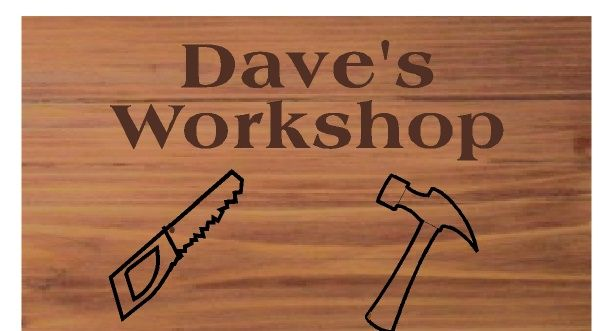 """N23612 - Engraved Cedar Wall Plaque for """"Dave's Workshop"""", with Hammer and Saw as Artwork"""