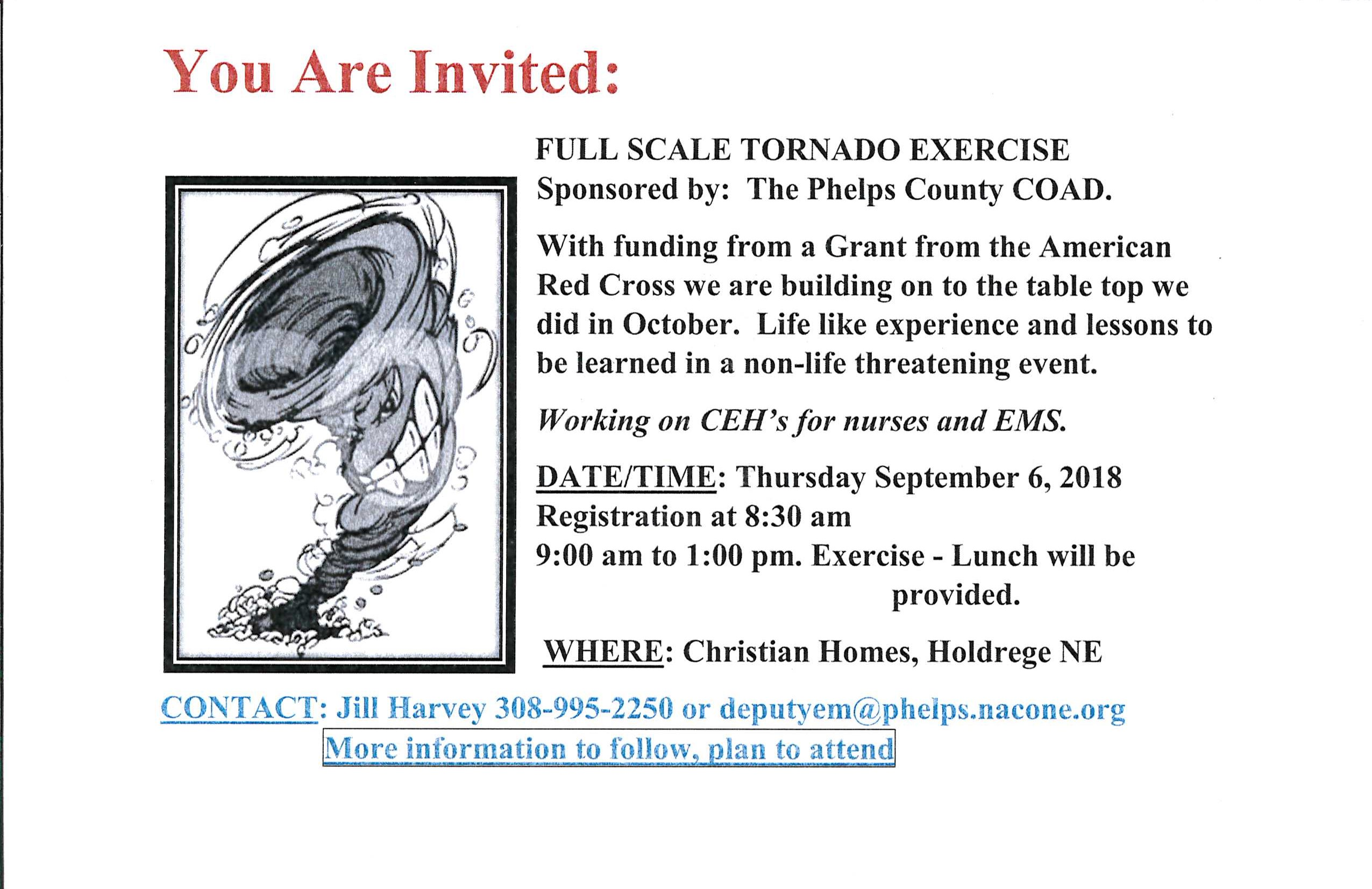 Full Scale Tornado Exercise September 6, 2018