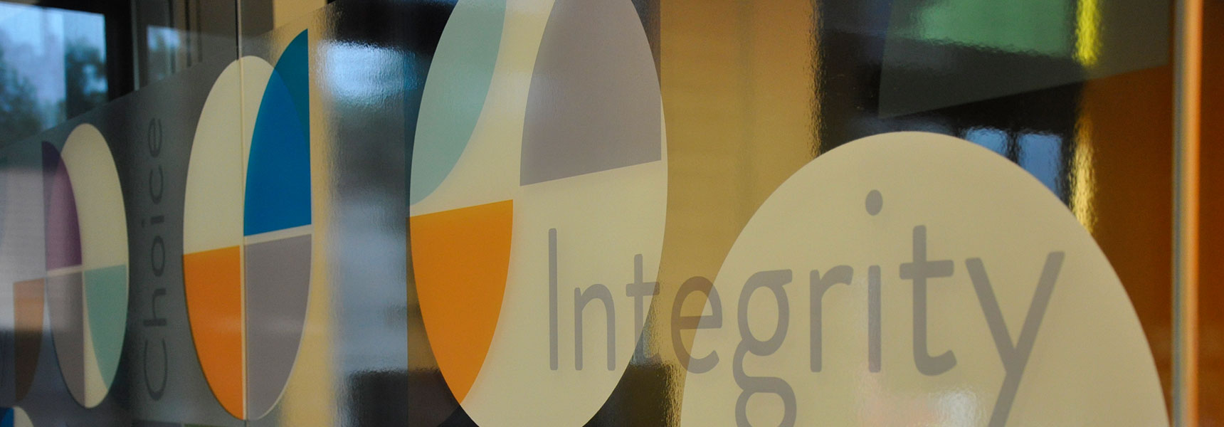 Internal window with the word Integrity
