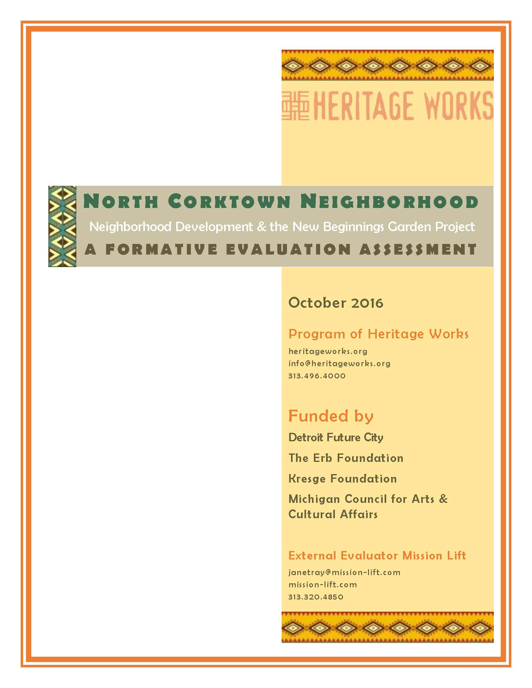 Report NoCo Redevelopment Engagement and Garden Project Evaluation