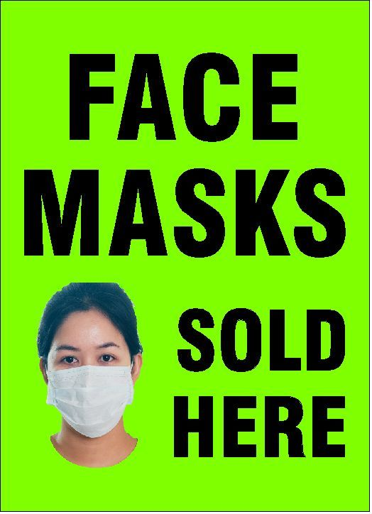 Face Masks Sold Here