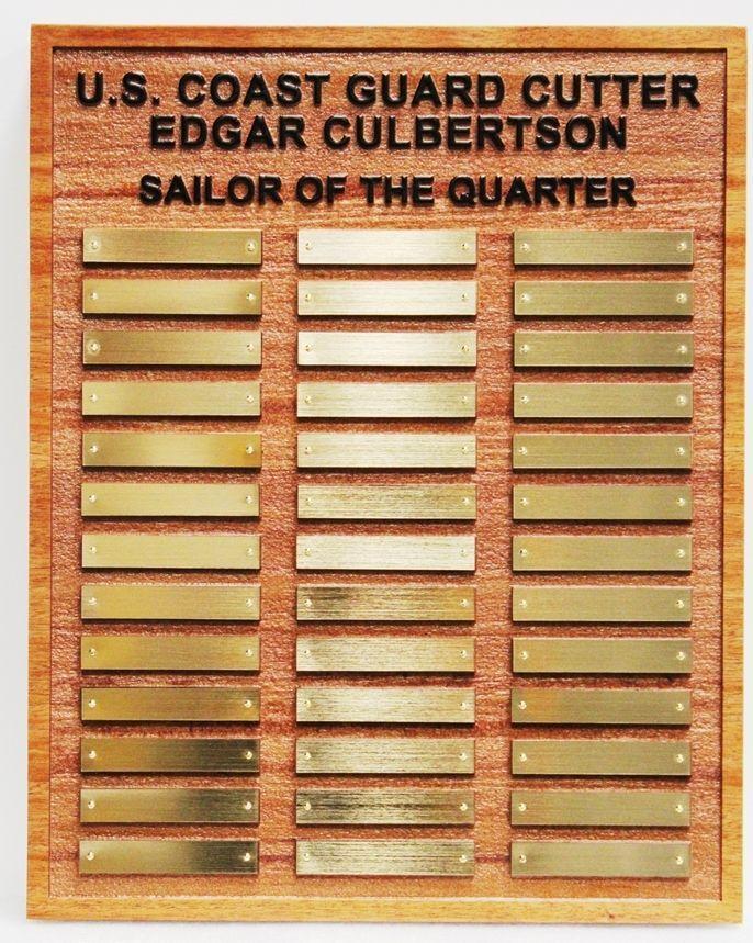 SB1035 - Sailor-of-the-Quarter Award Board for the US Coast Guard Cutter   Edgar Culbertson