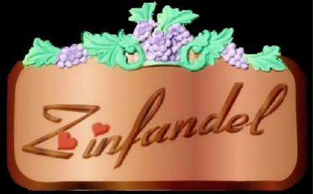 R27122 -Carved Wood  Varietal Wine Name Sign with 3D  Grape Cluster