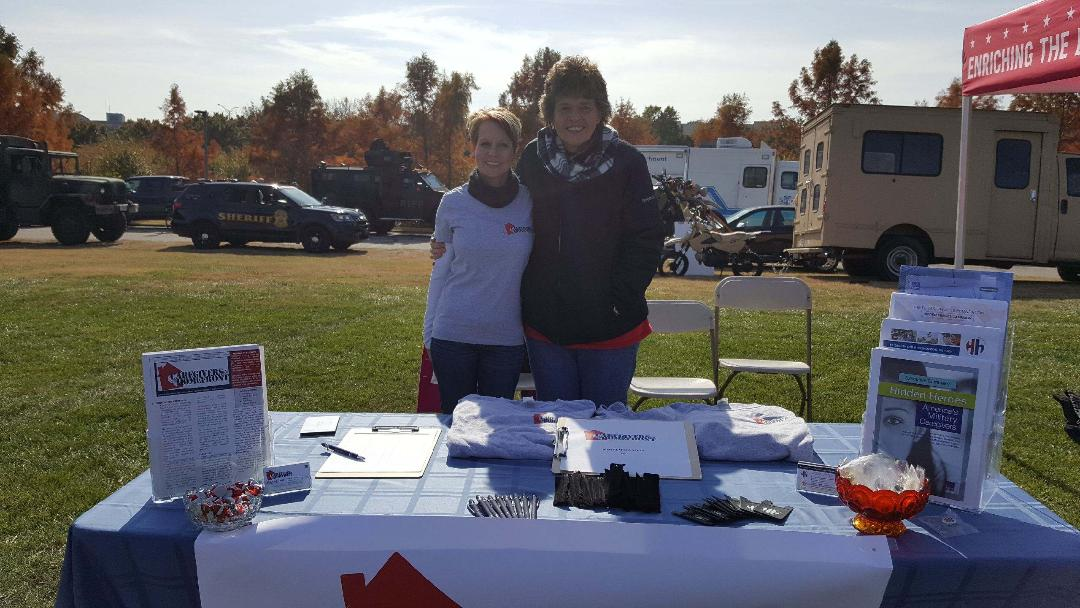 Susan Moore and Shawn Moore at the Sprint Veteran's Day Celebration