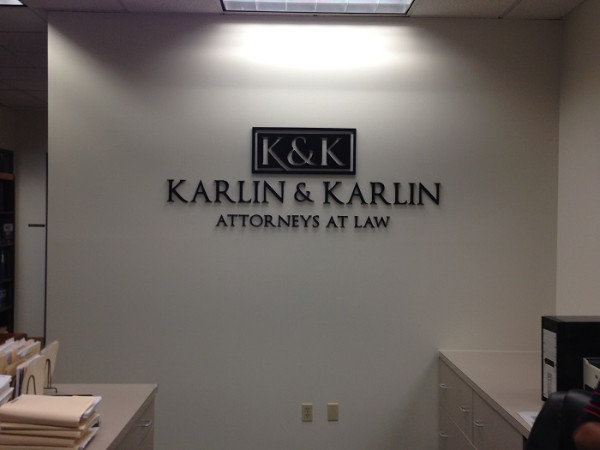 Dimensional letter lobby signs for Attorneys in LA County