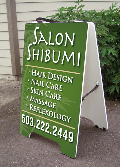 Salon Shibumi A-board