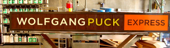 "Q25008 - Restaurant Sign ""Wolfgang Puck Express"""