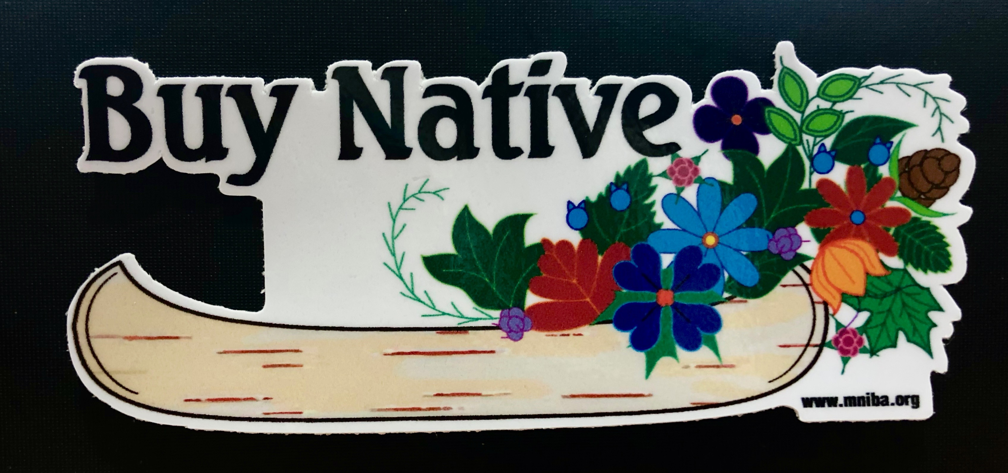 Buy Native Canoe Die Cut Sticker