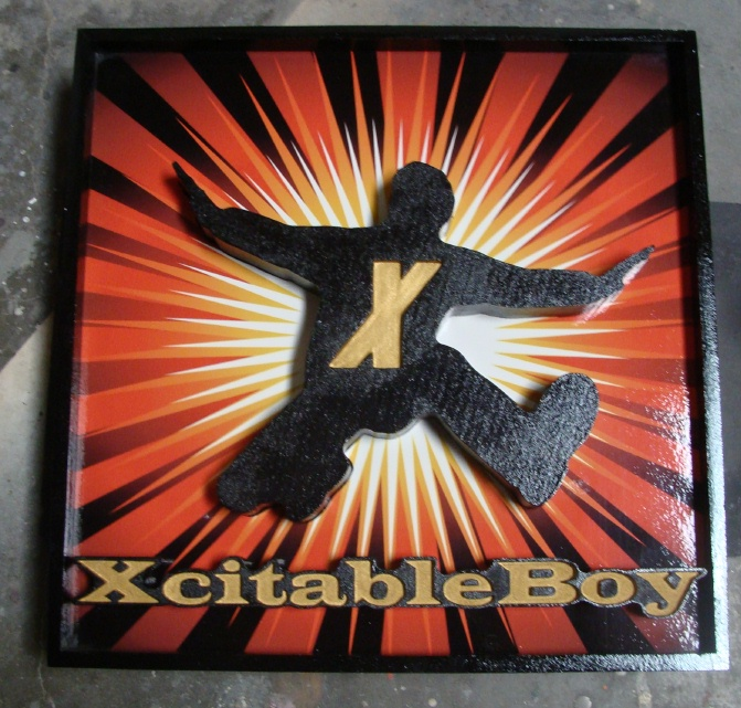 N23026 - Xcitable Boy Plaque