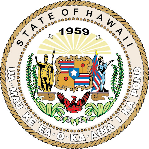 W32150 - Great Seal of Hawaii Wall  Plaque