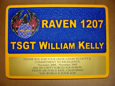 V31695 - Air Force Raven Personal Retirement Wall Plaque