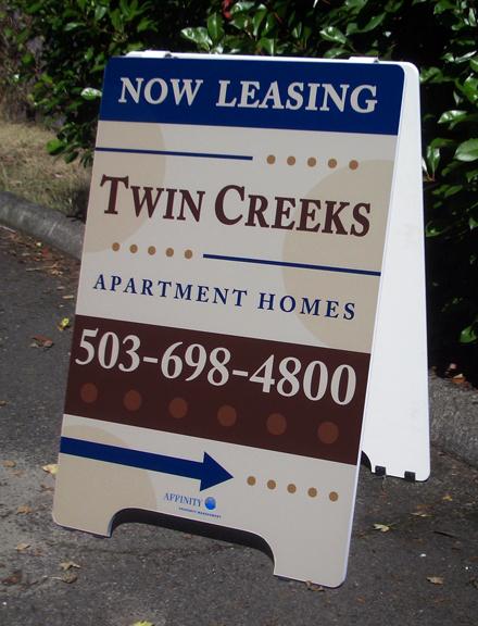 Twin Creeks A-board Sign