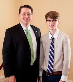 Sen. Phil Williams & Logan Hill.