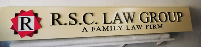 A10494 - Carved High Density Urethane Sign for a Law Group, A Family Law Firm