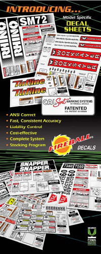 Patented Cal/Sort®  Decal Marking System
