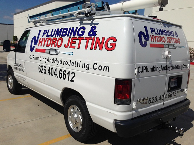 Contractor vehicle graphics Orange County
