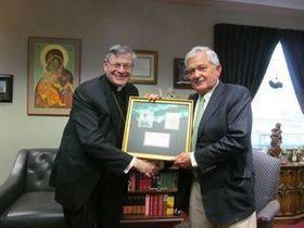 Bishop with Louis V. Gerstner, Jr.