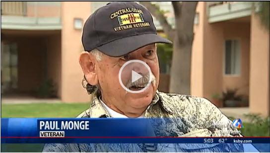 Formerly homeless veteran enjoys new home - KSBY