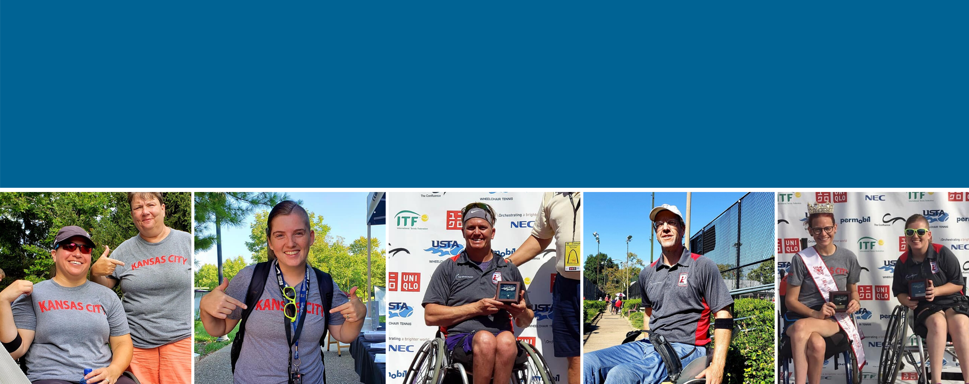 Images of winners at the USTA tennis tournament