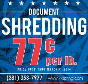 Shredding Special 77 cents per pound