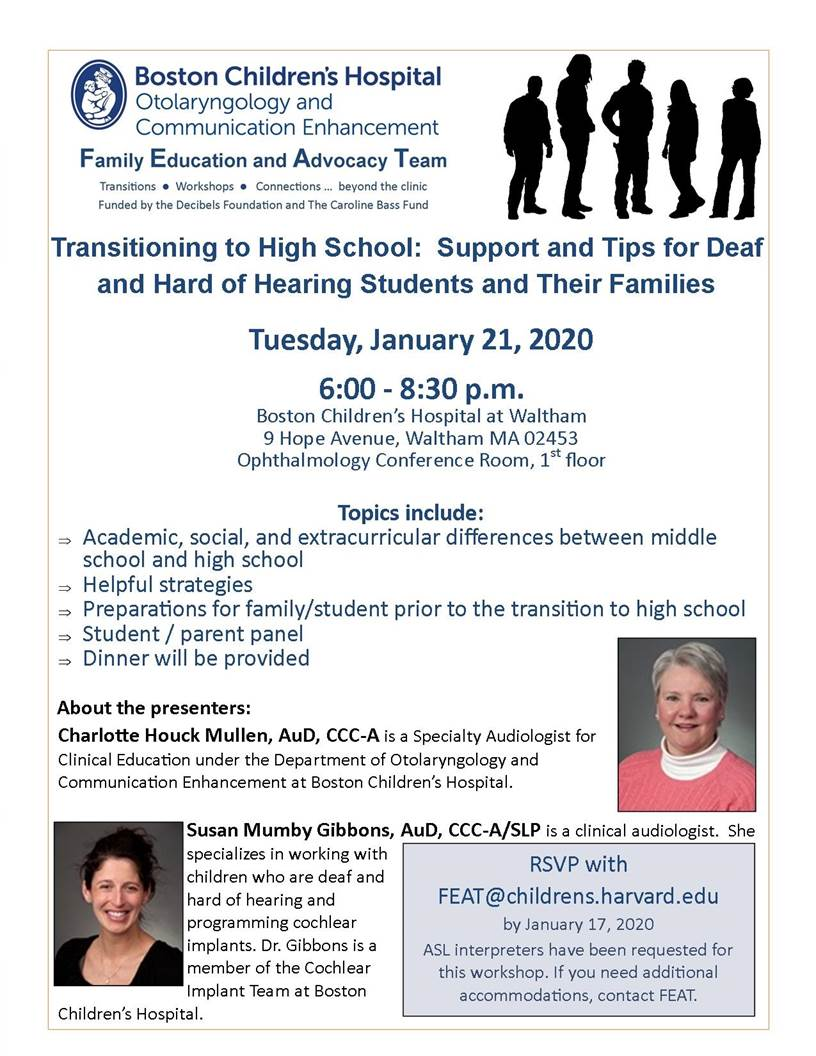 Transitioning to High School for D/HH Students and Families