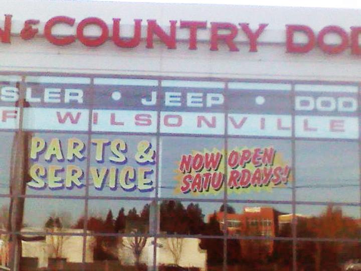 T & C Auto Dealership Window Graphics