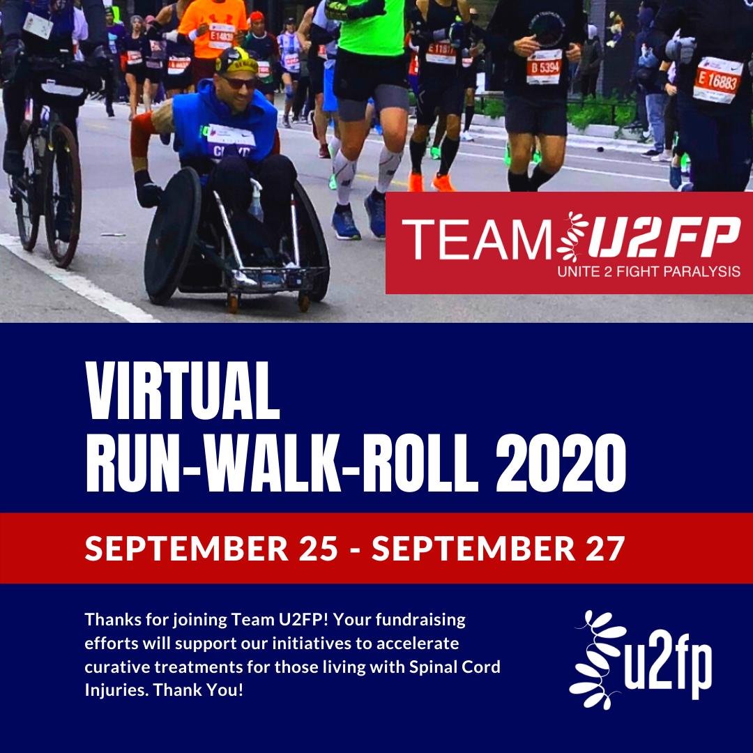 Get Ready for Team U2FP's Virtual Walk-Run-Roll 2020!