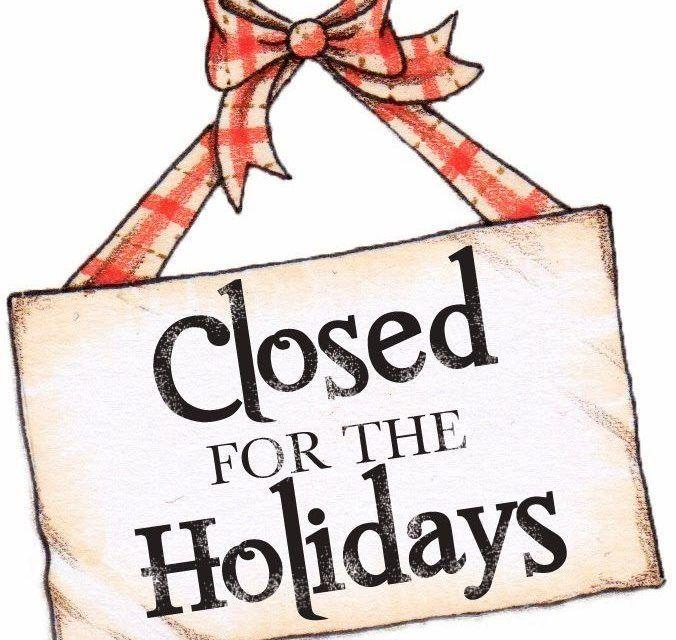 NESA's Holiday Closure