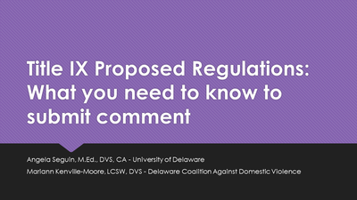 Title IX Proposed Regulations: What you need to know to submit comment