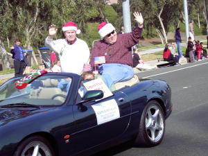 Bill Klamfoth in Holiday Parade