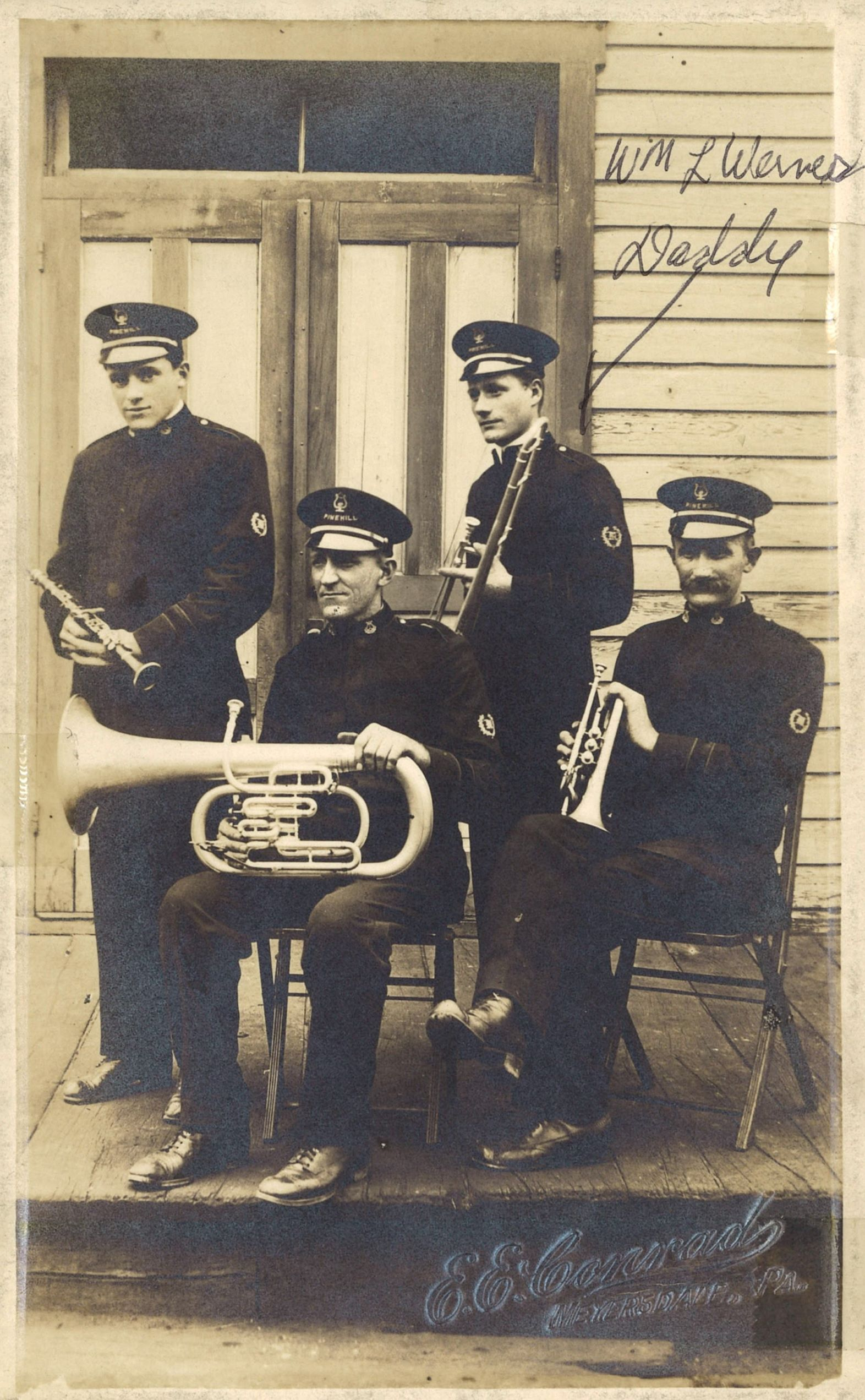 Members of the Miner's Concert Band