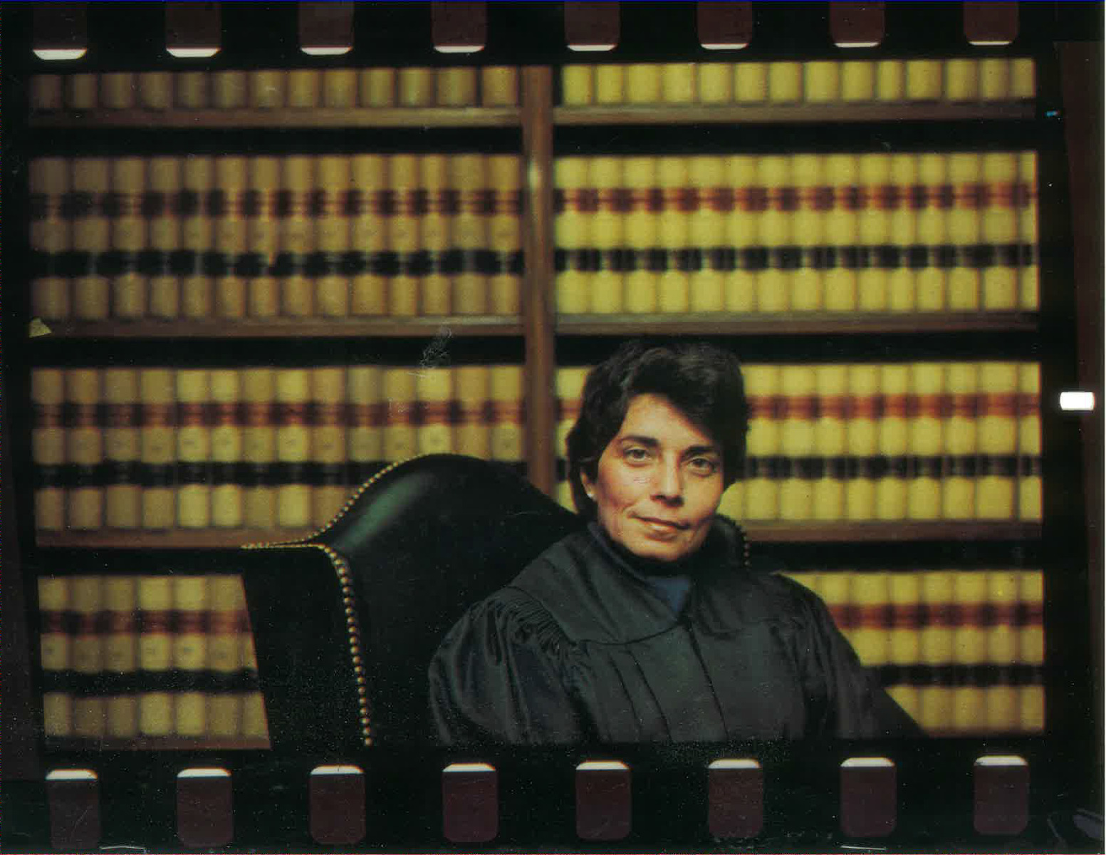 Justice Rothstein in her chambers.