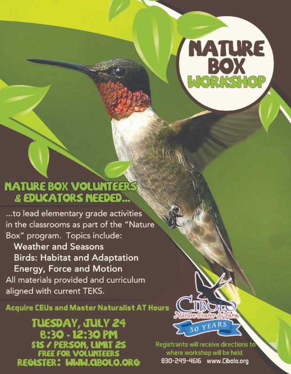 Nature Box Educators Workshop