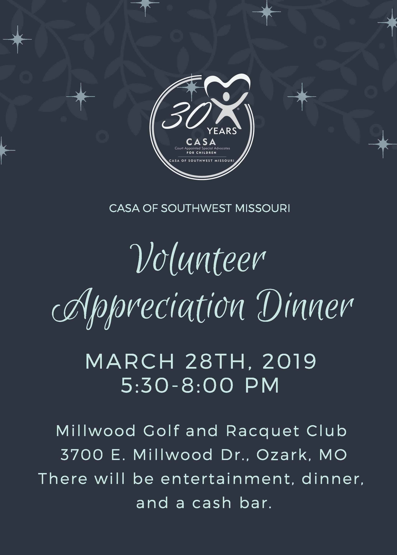 CASA Volunteer Appreciation Celebration
