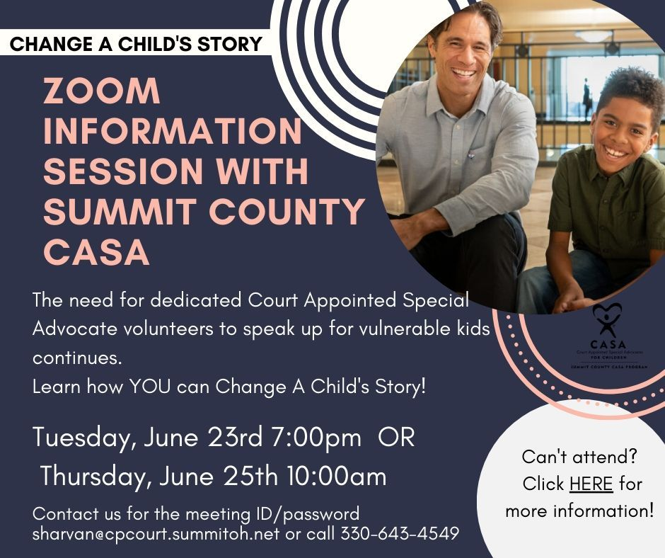Zoom Informational Session with Summit County CASA