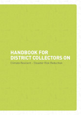 Handbook for District Collectors on Climate Resilient - Disaster Risk Reduction