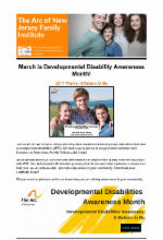 3.1.17 - March is Developmental Disabilities Awareness Month