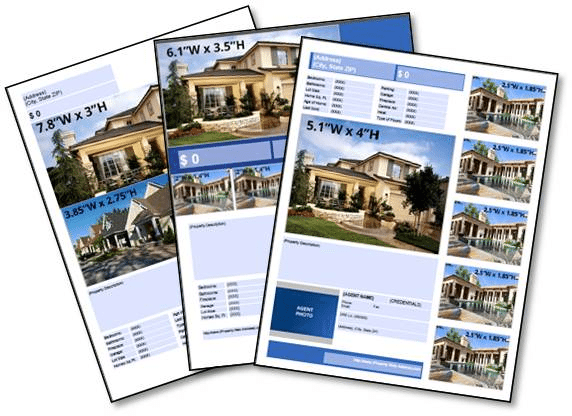 "Real Estate Brochures - 8.5x11"" (Single Page)"