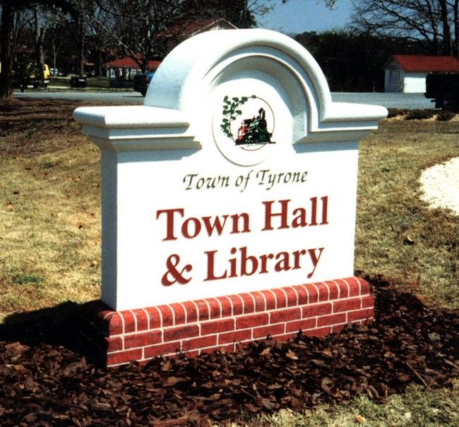 F15475 - Town Hall and Library Monument Sign