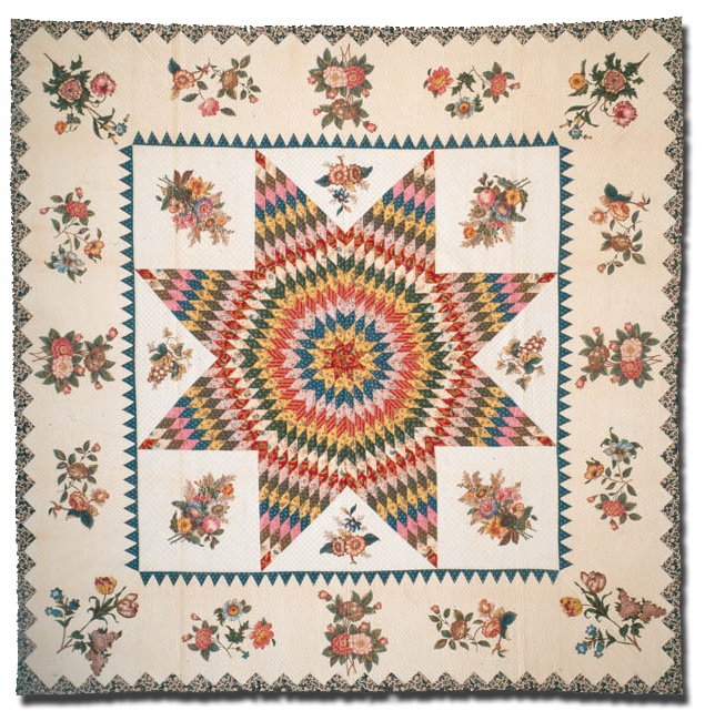 Star of Bethlehem, Maker, location unknown, Circa 1820-1840, 102 x 103 in, IQSC 1997.007.0369