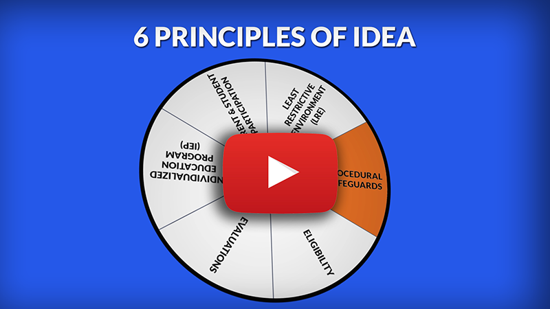 Link to youtube video 6 Principles of IDEA: Procedural Safeguards