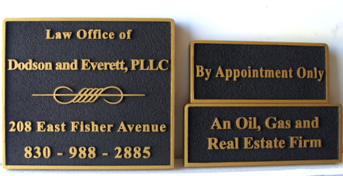 A10219 - Law Office Sandblasted Urethane Signs